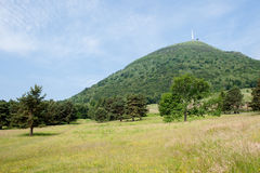 Puy de Dome. View on the Puy de Dome, dormant volcano in the Auvergne, France, Western Europe Stock Image