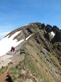 Puy de Sancy - идите к верхней части Стоковые Фотографии RF