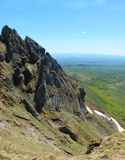 Puy de Sancy - Organ pipes. Puy de Sancy is the highest mountain in the Massif Central. It is part of an ancient stratovolcano which has been inactive for about Royalty Free Stock Photos