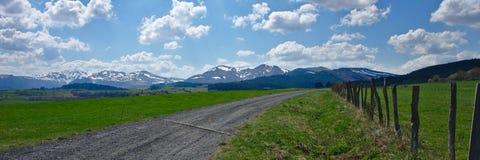 Puy Du Sancy śnieżna wiosna zdjęcia royalty free