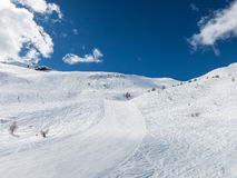 Puy mountains with a lot of snow Royalty Free Stock Photos