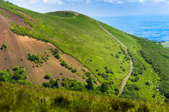 Puy Pariou and footpath in Auvergne Royalty Free Stock Photo