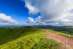 Puy Pariou and landscape of Auvergne Royalty Free Stock Photo