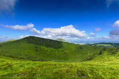 Puy Pariou and landscape of Auvergne Royalty Free Stock Images