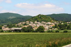 Puy-Saint-Martin upon a hill, France. The hilltop village Puy-Saint-Martin is a small village located south east of France in the department of Drôme of the Stock Photography