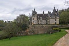 城堡Puyguilhem 免版税库存图片