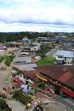 Puyo- Ισημερινός 22-4-2019: lobrero, η κύρια περιοχή με τους φραγμούς και τις δραστηριότητες στοκ εικόνες