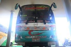 Puyo, Ecuador, 5-5-2019: ?ffentliche Transportmittel - der Bus von Jumandy, das zu Tena geht lizenzfreies stockbild