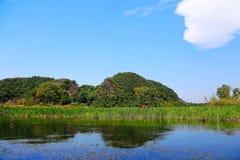 Puzhihe Sceniczny teren, typowy krasu landform fotografia royalty free