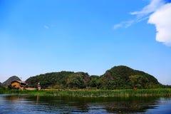 Puzhihe Sceniczny teren, typowy krasu landform zdjęcia stock