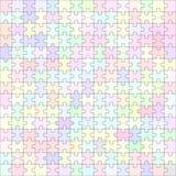Puzzel leeg malplaatje 225 stukken Royalty-vrije Stock Afbeelding