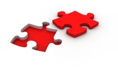 Puzzel met het missen van stuk Stock Foto