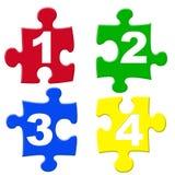 Puzzels del número ilustración del vector