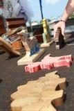 Puzzels di legno Immagini Stock