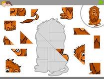 Puzzelspel met leeuwdier Stock Afbeelding