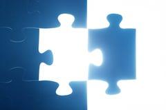 Puzzelstuk het missen Het lichte gloeien oplossing Royalty-vrije Stock Afbeelding