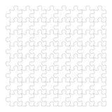 Puzzelstukken op witte achtergrond, geïsoleerde witte figuurzaag Royalty-vrije Stock Foto