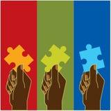 Puzzle à disposition Photos stock