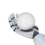 Puzzle à disposition de robot Photographie stock