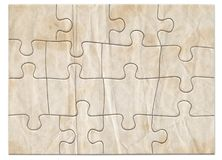 Puzzle 1 Degraded. Complete blank white puzzle degraded royalty free illustration