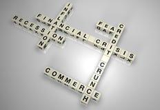 Puzzle 1 del blocchetto di crisi finanziaria Fotografie Stock Libere da Diritti