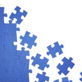 Puzzle. Photo of a blue puzzle Stock Images