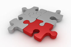 Puzzle. 3d rendered image of realistic puzzle pieces Royalty Free Stock Photo
