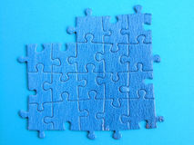 Puzzle. Blue puzzle Stock Photo