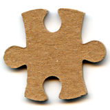 Puzzle. One piece of a puzzle isolated on a white background Royalty Free Stock Image