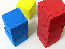 Puzzle - 123. Cube puzzle in 123 Stock Photo