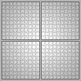 Puzzle. Four different types of editable puzzle templates Royalty Free Stock Photos