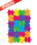 Puzzle. A set of modern illustrated puzzle pieces Stock Image