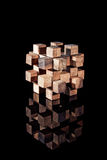 Puzzle. A wood made puzzle with a reflection Stock Photo
