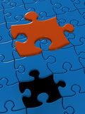 Puzzle. Last lack piece of Puzzle (3D Royalty Free Stock Photography
