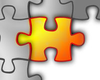 Puzzle. Digital illustration of Puzzle in 3d Stock Illustration