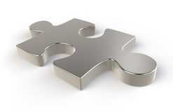 Puzzle. Jigsaw Piece of Metal Stock Photos