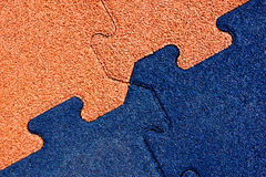 Puzzle. Substrate school playground in the shape of the puzzle color Royalty Free Stock Images