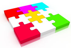 Puzzle. Digital illustration of puzzle in white background Stock Photo