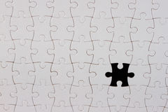 Puzzle. Piece on black background,the missing piece Stock Photo