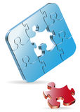 Puzzle. Three-dimensional colour vector puzzles on a white background Royalty Free Stock Photos