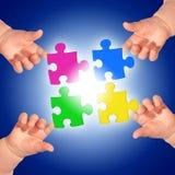 Puzzle. immagini stock libere da diritti