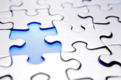 Puzzle. Piece missing from jigsaw puzzle Stock Photos