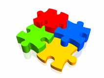 Puzzle. Concept 3d illustration very high quality Royalty Free Stock Photography