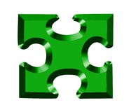 puzzle 3D Immagine Stock