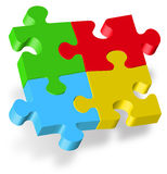Puzzle 3D. On white background Royalty Free Stock Image