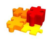 puzzle 3d Immagini Stock Libere da Diritti