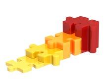 puzzle 3d illustrazione vettoriale