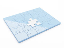 Puzzle 3d. 3d render of isolated jigsaw puzzle Royalty Free Stock Photography