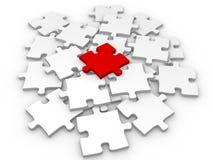 puzzle 3d. Commercio della parte del collegamento di successo Fotografia Stock