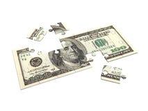Puzzle 3D del dollaro Fotografie Stock
